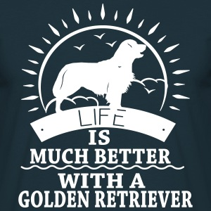 Golden Retriver Tee shirts - T-shirt Homme