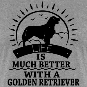 Golden Retriver T-shirts - Vrouwen Premium T-shirt