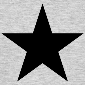 Black star, music, rock, five, heroes, space, best - Men's T-Shirt