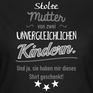 Stolze Mutter zwei Kinder T-Shirts - Frauen T-Shirt
