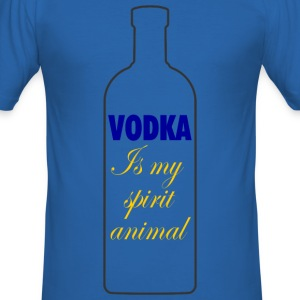 Vodka is my spirit animal - Tee shirt près du corps Homme