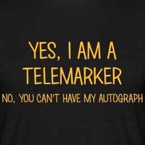telemarker yes no cant have autograph t-shirt - Men's T-Shirt