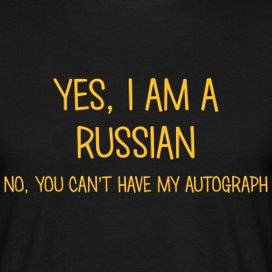 russian yes no cant have autograph t-shirt - Men's T-Shirt