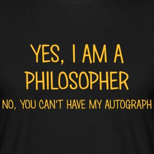 philosopher yes no cant have autograph t-shirt - Men's T-Shirt