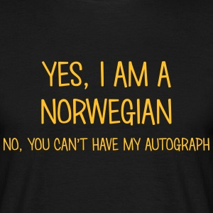 norwegian yes no cant have autograph t-shirt - Men's T-Shirt