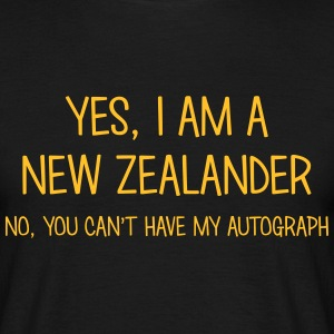 new zealander yes no cant have autograph t-shirt - Men's T-Shirt