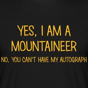 mountaineer yes no cant have autograph t-shirt - Men's T-Shirt