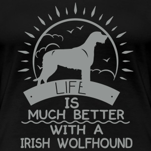 Irish Wolfhound T-Shirts - Frauen Premium T-Shirt