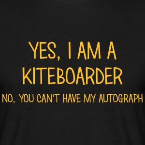 kiteboarder yes no cant have autograph t-shirt - T-shirt Homme