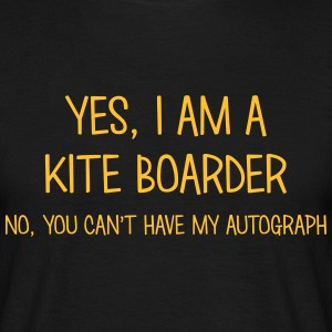 kite boarder yes no cant have autograph t-shirt - T-shirt Homme