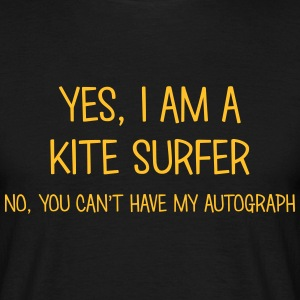 kite surfer yes no cant have autograph t-shirt - Men's T-Shirt