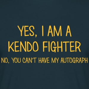 kendo fighter yes no cant have autograph t-shirt - T-shirt Homme
