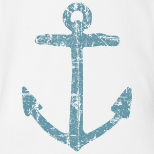 Anchor Vintage (Blue) Sailing Design for Sailors Baby Bodysuits - Organic Short-sleeved Baby Bodysuit