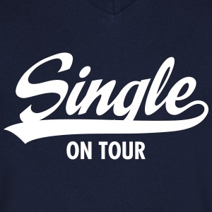 Single On Tour Magliette - Maglietta da uomo con scollo a V