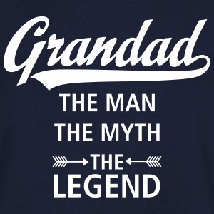 Grandad - The Man - The Myth - The Legend T-Shirts - Men's V-Neck T-Shirt