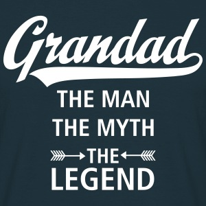 Grandad - The Man - The Myth - The Legend T-shirts - Herre-T-shirt
