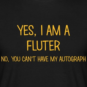 fluter yes no cant have autograph t-shirt - T-shirt Homme