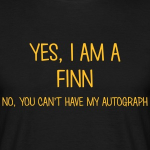 finn yes no cant have autograph t-shirt - T-shirt Homme