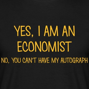 economist yes no cant have autograph t-shirt - Men's T-Shirt