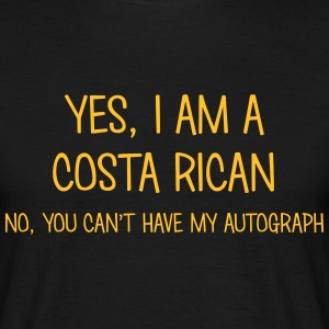 costa rican yes no cant have autograph t-shirt - T-shirt Homme