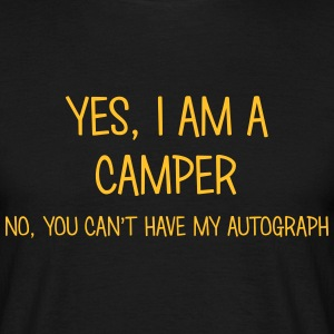 camper yes no cant have autograph t-shirt - Men's T-Shirt