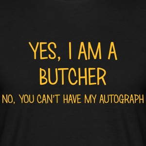 butcher yes no cant have autograph t-shirt - T-shirt Homme