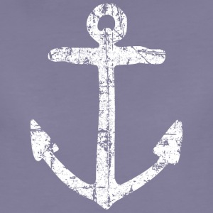 Anchor Vintage (White) Sailing Design for Sailors T-Shirts - Women's Premium T-Shirt