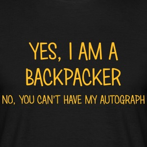 backpacker yes no cant have autograph t-shirt - Men's T-Shirt