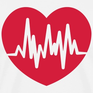 heart rate T-shirts - Mannen Premium T-shirt