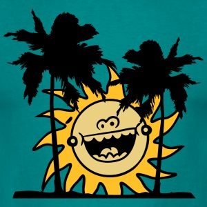 beach sun vacation happy palms recreation celebrat T-Shirts - Men's T-Shirt