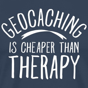 Geocaching Is CHeaper Than Therapy Therapy Koszulki - Koszulka męska Premium