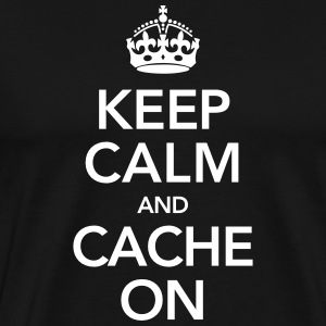 Keep Calm And Cache On T-shirts - Mannen Premium T-shirt