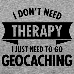 Therapy - Geocaching T-shirts - Herre premium T-shirt
