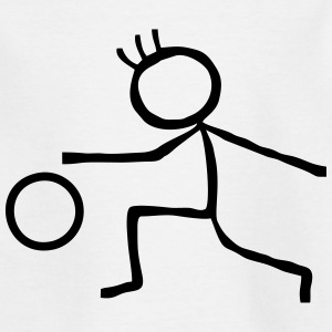 Stick Figure handball Shirts - Kids' T-Shirt