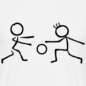 2 Stick Figure Handball T-Shirts - Men's T-Shirt