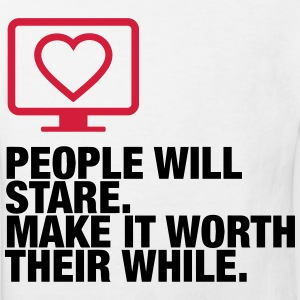 People will always stare! Shirts - Kids' Organic T-shirt