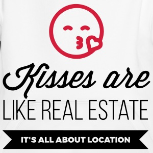 Kisses are like real estate. Location, location, location! Hoodies - Kids' Premium Hoodie