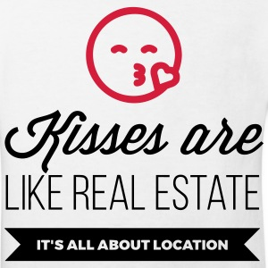 Kisses are like real estate. Location, location, location! Shirts - Kids' Organic T-shirt