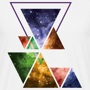 Art Triangle Galaxy T-Shirts - Männer T-Shirt