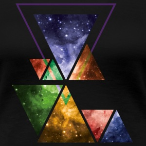 Art Triangle Galaxy T-Shirts - Frauen Premium T-Shirt
