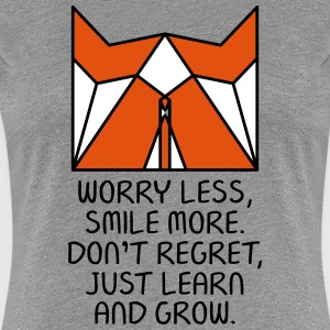Worry Less. Smile More...(Origami Fox) T-Shirts - Women's Premium T-Shirt