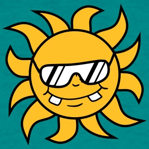 cool sunglasses summer black sun face T-Shirts - Men's T-Shirt