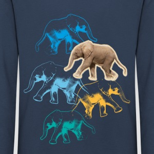 Animal Planet elefant langermet barn-T-skjorte - Premium langermet T-skjorte for barn