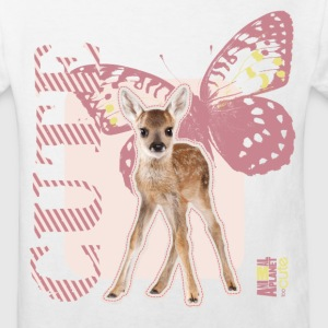 Animal Planet Rehkitz und Schmetterling Kinder T-S - Kinder Bio-T-Shirt