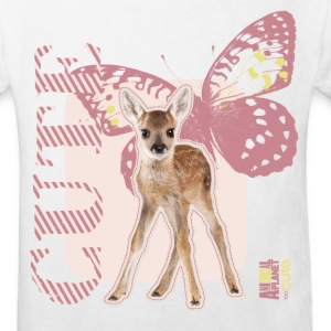 Animal Planet Fawn with Butterflys Kid's T-Shirt - Kids' Organic T-shirt