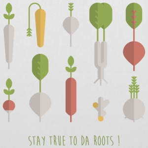 White STAY TRUE TO DA ROOTS! Bags & Backpacks - Tote Bag