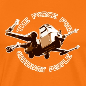 X-wing ordinary brown T-shirts - Premium-T-shirt herr