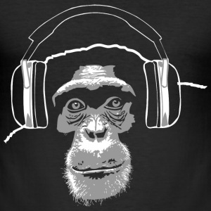Schimpanse - Chimpanzee - Music T-Shirts - Männer Slim Fit T-Shirt