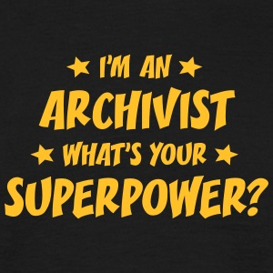 im an archivist whats your superpower t-shirt - Men's T-Shirt
