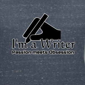 I'm a Writer - Passion meets Obsession  T-Shirts - Women's V-Neck T-Shirt